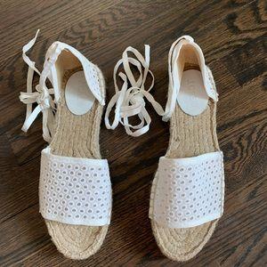 JCrew Espadrille Lace-Up Sandals